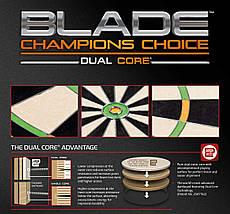 Дартс профессиональная мишень из сизаля Winmau Champion Choice Англия + фирменные дротики + линия, фото 3