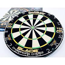 Дартс профессиональная мишень из сизаля Winmau Champion Choice Англия + фирменные дротики + линия, фото 2