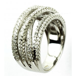 Эксклюзивное серебряное кольцо Элегантность 24316