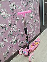 Детский самокат для девочки ScooTer цвет розовый