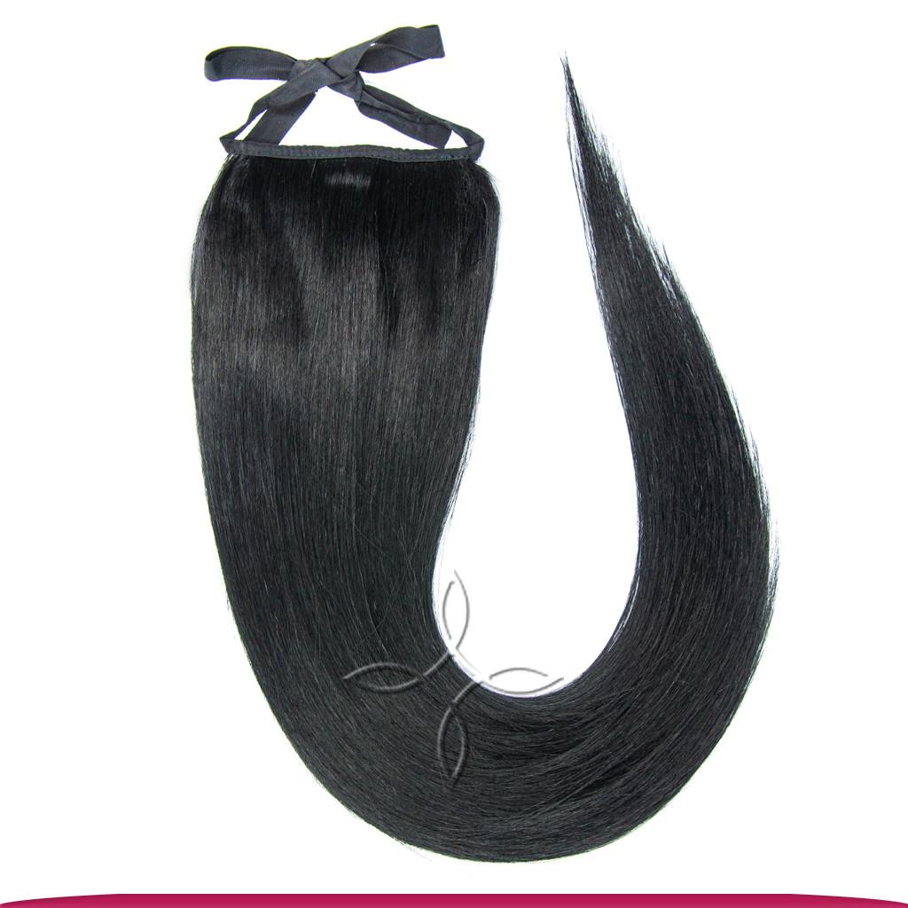 Шиньон-Хвост на Ленте 55 см 85 грамм, Черный №01