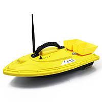 Кораблик для прикормки и рыбалки Охотник с эхолотом Lucky FFW718 желтый