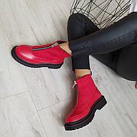 Черевики жіночі червоні  екошкіра 37