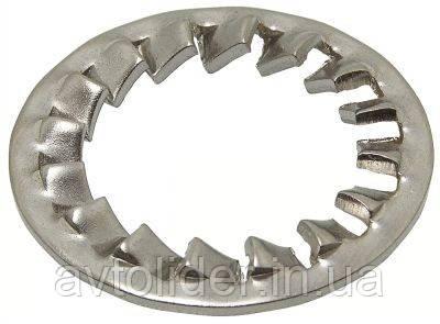 DIN 6798 J (ГОСТ 10462-81) : нержавеющая стопорная шайба с частыми внутренними зубцами