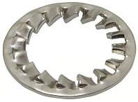 DIN 6798 J (ГОСТ 10462-81) : нержавеющая стопорная шайба с частыми внутренними зубцами, фото 1