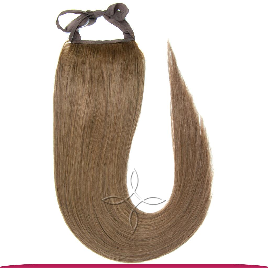 Шиньон-Хвост на Ленте 55 см 85 грамм, Русый №10