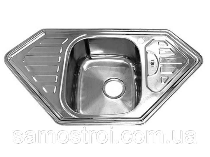 Мойка врезная 9550В Platinum декор