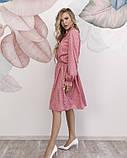 Розовое в горошек платье с рюшами L, фото 2