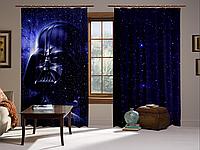 Штори 3D Darth Vader Нічний космос, комплект з 2-х штор, фото 1