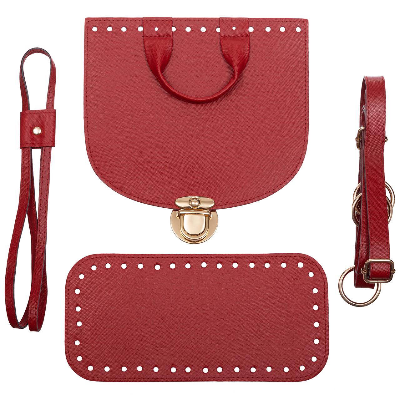 Набор для рюкзака экокожа Красный (5 позиций) фурнитура золото