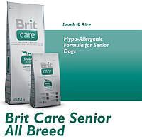 Корм для собак Brit Care Senior All Breed Lamb & Rice 12кг для пожилых собак всех пород,с ягненком и картошкой