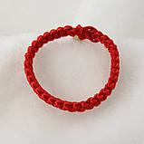 Браслет червоний на удачу оберіг широкий плетений, фото 5