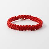 Браслет червоний на удачу оберіг широкий плетений, фото 3