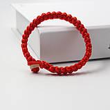 Браслет червоний на удачу оберіг широкий плетений, фото 4