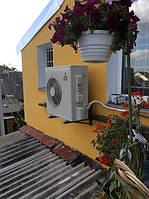 Тепловой насос Воздух-Воздух Mitsubishi Electric MUZ-FH50VEHZ . Обогрев второго этажа частного дома. г. Киев