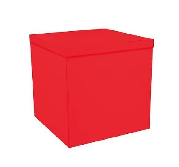 Коробка-сюрприз 700*700*700 мм, Красная, без печати, PREMIUM
