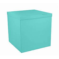 Коробка-сюрприз 700*700*700 мм, Бирюзовая, без печати, PREMIUM