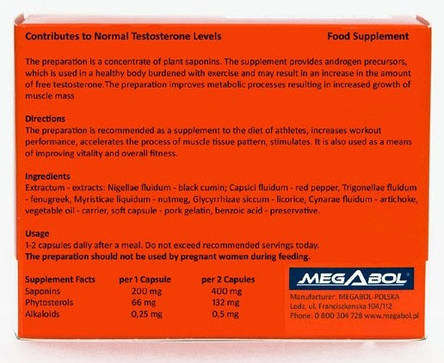 Бустер тестостерона Megabol Biosterol 36 caps, фото 2