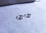 Сережки фірми Xuping з цирконієм (Rhodium color 22), фото 3