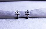 Сережки фірми Xuping з цирконієм (Rhodium color 22), фото 5