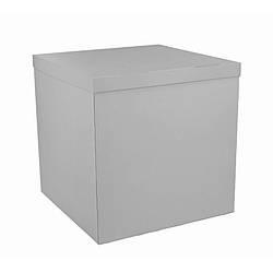 Коробка-сюрприз 700*700*700 мм, Серая, без печати, PREMIUM