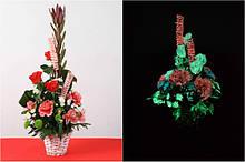 Флуоресцентна та світящися фарба для квітів
