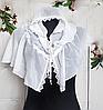 Легкий платок для венчания и крестин Виола 110*75 см белый