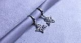 Сережки - метелики фірми Xuping (Rhodium color 36), фото 2