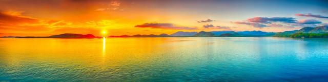 картинка рассвета солнца на море для фартука