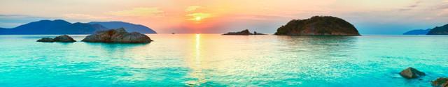 изображение рассвета солнца на море для фартука