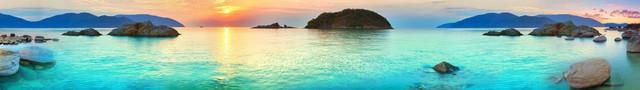 изображение рассвета солнца на море для фартука 1