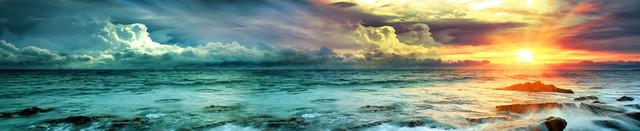 изображение рассвета солнца на море для фартука 2