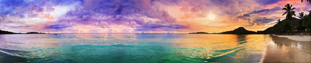 изображение рассвета солнца на море для фартука 4
