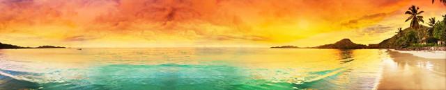 изображение рассвета солнца на море для фартука 9