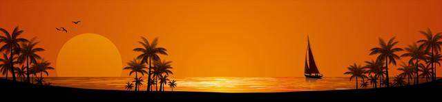 изображение рассвета солнца на море для фартука 10