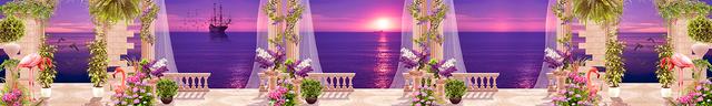 изображение рассвета солнца на море для фартука 11