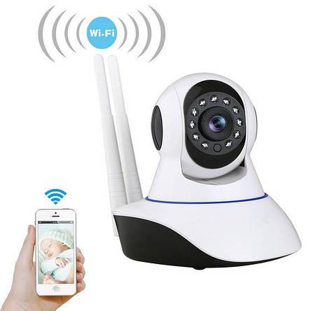 Беспроводная WIFI камера Q5 с датчиком движения, ночным видением и обзором 360 (Живые фото), фото 2