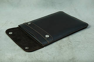 Шкіряний чохол для MacBook, модель №38, Вінтажна шкіра, колір Шоколад, фото 2