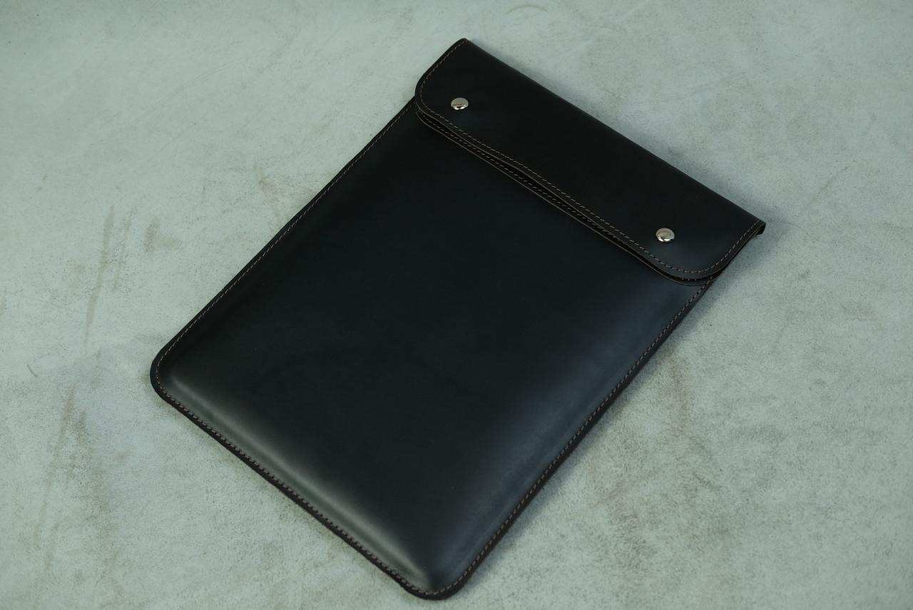 Шкіряний чохол для MacBook, модель №38, Вінтажна шкіра, колір Шоколад