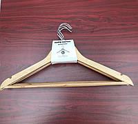 Тремпель плечики вешалка для одежды деревянный Eco 45х15 см / Набор 10 штук