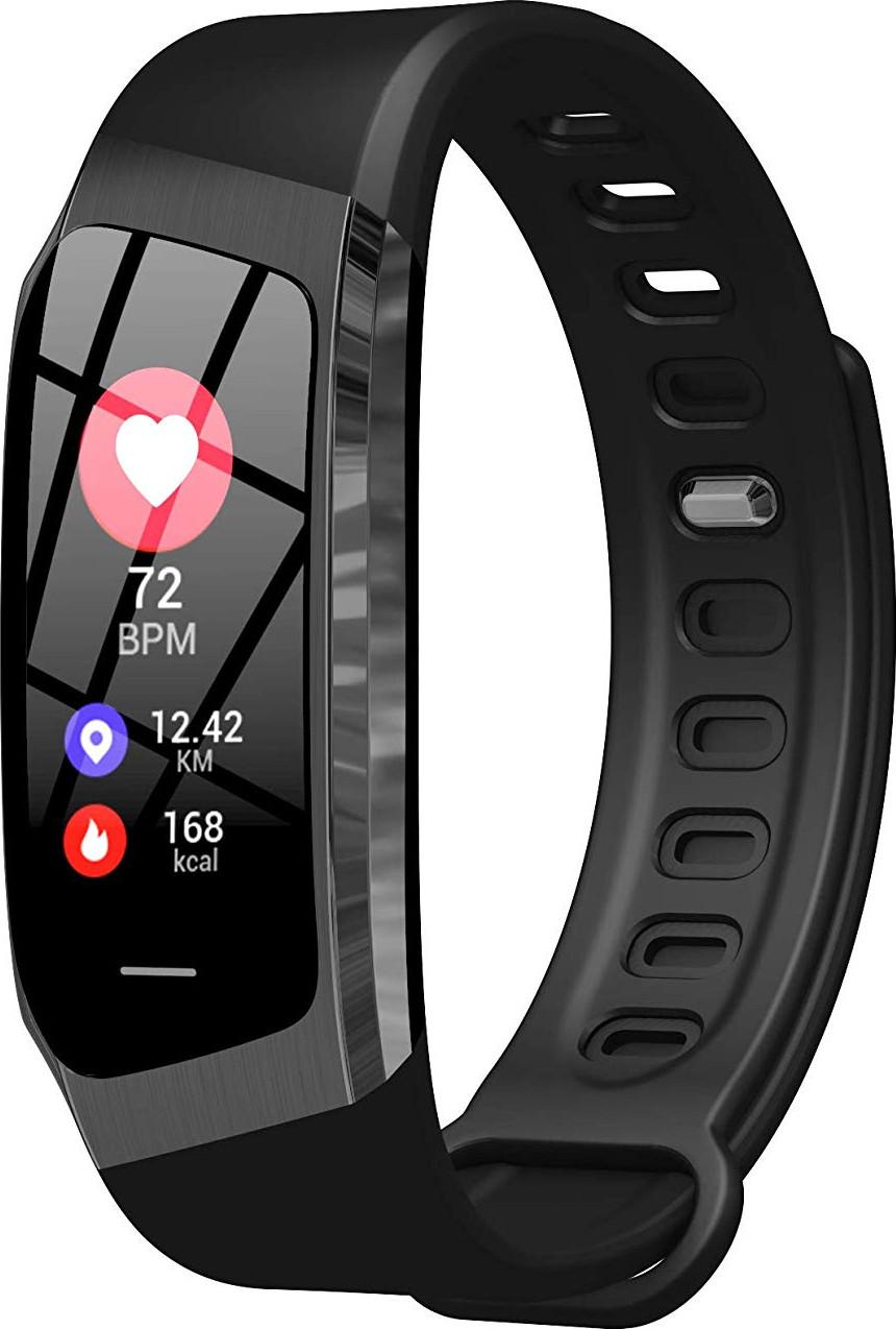 Розумний фітнес браслет Lemfo E18 з функцією вимірювання тиску і функцію пошуку телефону чорний