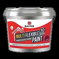 Фарба гумова БАЙРІС Multi Flexible Paint RAL8017 (Коричнева) 5кг