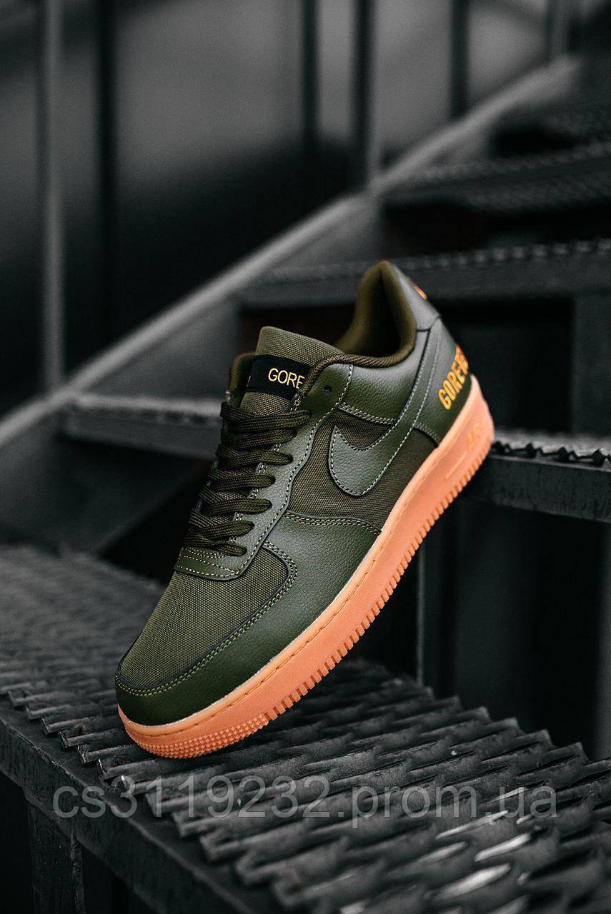 Мужские кроссовки Nike Air Force Low GORE-TEX Haki  (хаки)