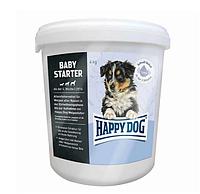 Корм Happy Dog Baby Starter 4 кг - первый твёрдый корм для щенков (Хэппи Дог Бейби Стартер)