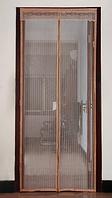 Дверна антимоскітна сітка Magic Mech на магнітах 100х210 см Коричневий (KG-2561)