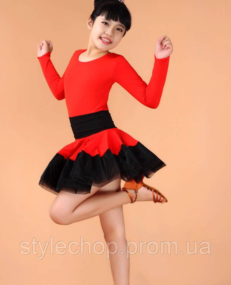 Сукня дитяче для танців червоне