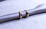 Сережки фірми Xuping з цирконієм (color 17), фото 2