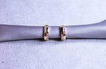 Сережки фірми Xuping з цирконієм (color 17), фото 4