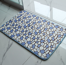 Плюшевый коврик «Камешки» синий 50×80 см