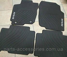 Toyota RAV4 2012-16 килимки гумові передні задні нові оригінальні